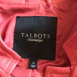 Talbots Jackets & Coats - Talbots salmon color leather jacket
